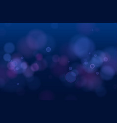 abstract defocused circular blue bokeh lights on vector image