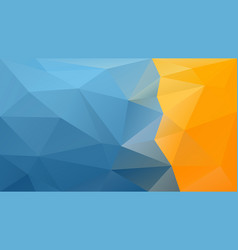 Abstract polygonal background blue orange yellow vector