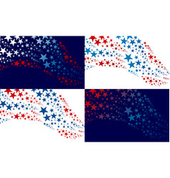 abstract usa background design vector image