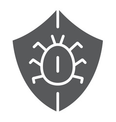 Antivirus glyph icon security and protection vector
