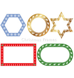 assorted frames for the christmas season vector image