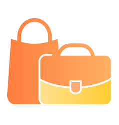 baggage flat icon bags color icons in trendy flat vector image