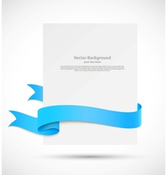 Banner with blue ribbon vector image