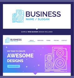 Beautiful business concept brand name audio hifi vector