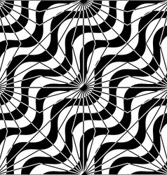 Black and white alternating diagonal waves with vector image