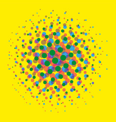 bright dotted halftone spotted pop art comic vector image