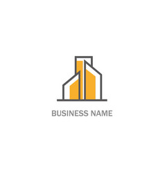 building abstract company logo vector image