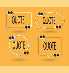 collection quote forms for talk message vector image