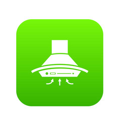 cooker hood icon green vector image