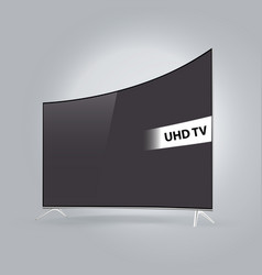 curved smart led tv series isolated on gray vector image
