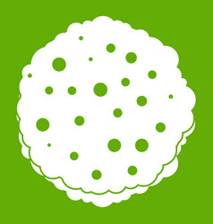 Cutlets icon green vector