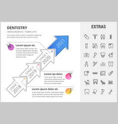 dentistry infographic template elements and icons vector image