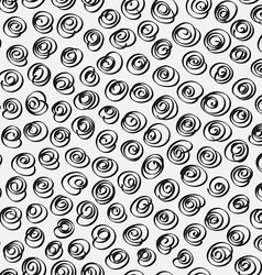 Doodle abstract pattern Black and white colors vector image