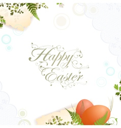 easter holiday frame vector image vector image