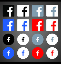 Facebook logos vector