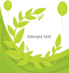Foliage Background vector image