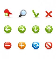 gel icon set navigation vector image vector image