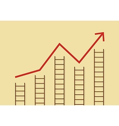 Growth chart with ladders vector