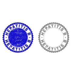 Grunge hepatitis b scratched stamp seals vector