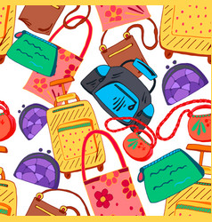 Hand bag seamless pattern vector