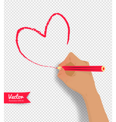 hand drawing heart vector image