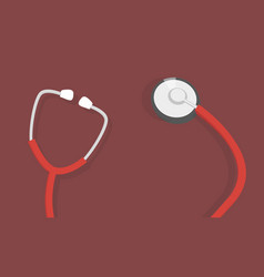 health care concept with stethoscope vector image
