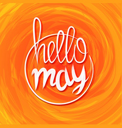 hello spring lettering grange yellow colored vector image