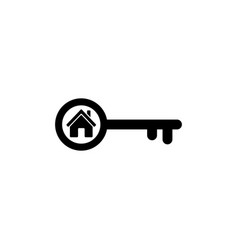 home key icon in flat style simple estate symbol vector image