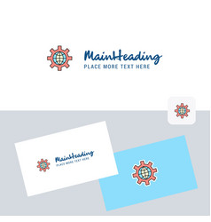 internet setting logotype with business card vector image
