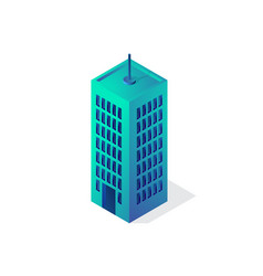 isometric building 3d icon city vector image