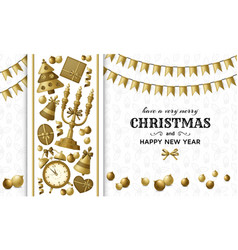 merry christmas background and happy new year vector image