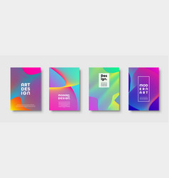 Modern minimal colorful abstract background vector