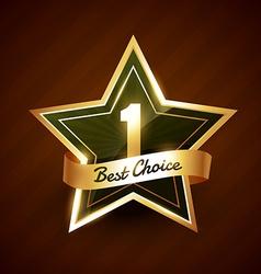 no 1 best choice golden label badge vector image