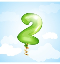 Number two balloon vector
