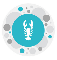 Of zoology symbol on lobster vector