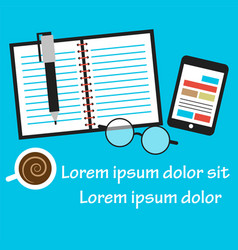Office and business work vector