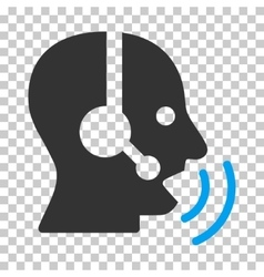 Operator Speech Sound Waves Icon vector
