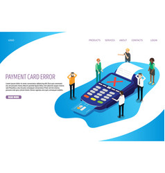 payment card error website landing page vector image