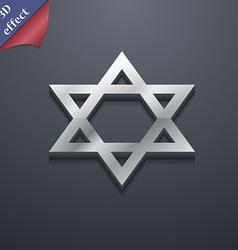 Pentagram icon symbol 3d style trendy modern vector