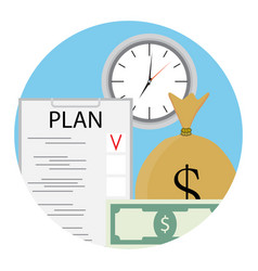 Plan time and money vector