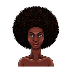 portrait beauty african women vector image