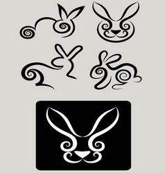 Rabbit symbols 1 vector image
