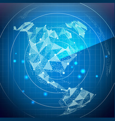 radar screen north america digital screen vector image