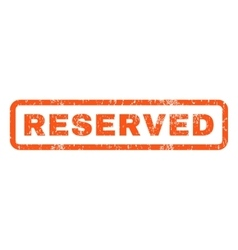 Reserved Rubber Stamp vector image