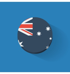 Round icon with flag of Australia vector