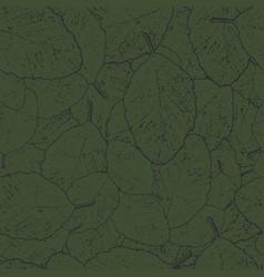 Seamless pattern green alder leaves with dark vector