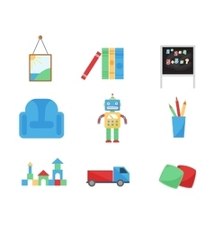Set of different cartoon toys vector