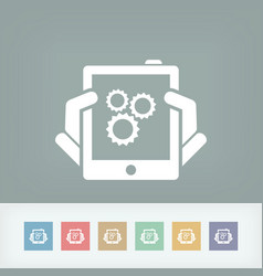 setting device vector image