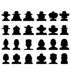 silhouettes avatars vector image