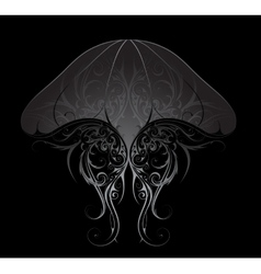 Silver jellyfish vector image